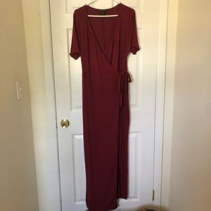 Forever 21 Maroon Wrap Dress Size 1X